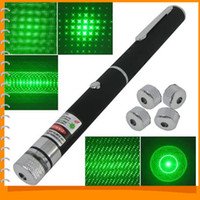 Wholesale 532nm mW Green Ray Beam Laser Pointer Pen with Different Laser Patterns Xmas Gifts