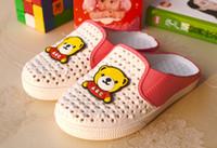 Wholesale New Summer children cartoon lovely bear Latter ABC massage slippers Colors Size