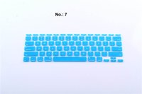 Wholesale Shiny colors Letters Silicone Keyboard Skin Protector Covers For US Edition Macbook Tablet Computer And Waterproof High Quality