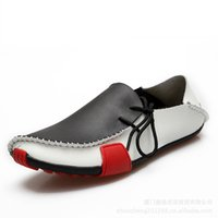 boat shoes - Loafers for Men Casual Men Shoes Genuine Leather Driving Moccasins Slip On Mens Flat Shoes Boat Loafers Plus Size EU