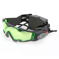 Wholesale NEW Portable Sport Camping Equipment Green Lens Adjustable Night Vision Goggles Glasses Eyewear With Flip out Light