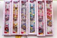 Cheap 2set lot baby girls Snow White Mermaid Rapunzel Necklace set kids Princess necklace+bracelet+ring Jewelry Beads Sets