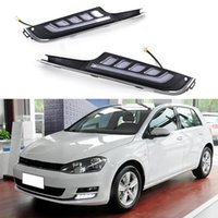 Wholesale Car Styling LED Daytime Running Lights DRL Front Fog Light Lamp For Volkswagen VW Golf Auto Accessories