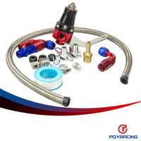 Wholesale PQY RACING Universal rubber hose Fuel Pressure Regulator Fit for Universal Bypass psi Fuel System PQY7849