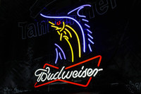 big banners - Budweiser beer big swordfish banner fish neon signs led lights cm