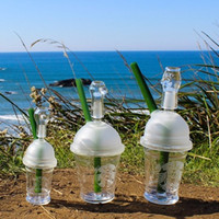 Wholesale Starbuck Cup Original Opaque Bright green dab concentrate oil rig glass bong glass dome and nail Hookah glass water pipe