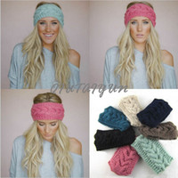 american crochet - Women s Fashion Wool Crochet Headband Knit Hair band Flower Winter Ear Warmer headbands for women S507