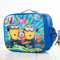 Wholesale Children Outdoor Packs Minions Despicable Me Nylon Cartoon Lunch Bag Box Frozen Spider Man Sophia The Avengers Transformers Kids Lunch Bags