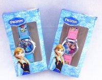 Wholesale Hot Sale Frozen Princess Anna Elsa Watches Kids Fashion Quartz Cartoon Watch Children Birthday Christmas Presents Gift