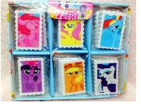 Wholesale My Little Pony erasers Christmas gift School Supplies DHL Eraser Stationery Snow Queen Rubber kids Love shape erasers A0302