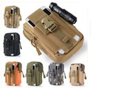 Wholesale Outdoor Sports Molle Running Bag Fanny Phone Pouch Belt Bag EDC Camping Hiking Running Waist Pouch Wallet