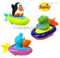 baby gift usa - USA Sassy Pull Go Boats Baby swimming bath toys in water Baby Gifts