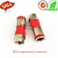 Wholesale 50Pcs RG6 compression f connector rg6 f type compression connector coaxial satellite f connector for RG6 coax cable