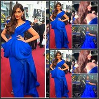 Cheap Hot 2015 Royal Blue Evening Dresses Fashion Celebrity Dress Off the Shoulder Ruffle Peplum Sweep Train Prom Dresses Special Occasion Dress