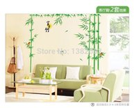 bamboo pieces for sale - sales Removable Wall Stickers Living Room TV Sofa Background Riches and Honour Bamboo AM011AB