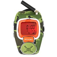 walkie talkie watch - A Pair Camouflage Freetalker UHF W CH VOX Scan Mini Portable Two way Watch Radio Walkie talkie For Kid Children A7205M