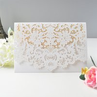 Cheap Stock Free Shipping Choose One Color Only White Red Pink Gold Embossed Floral Wedding Invitation Card with Envelopes,Blank inside paper
