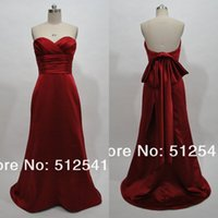 Cheap 100% Real Pictures Sweetheart Pleated Cheap Bridesmaid Dresses 2015 New Arrival Low Back Burgundy Long Bridesmaids Dresses 2015 Evening Gown