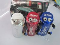 Wholesale D1 SPEC Racing Oil Catch Tank Can Circular Style Colors Red Blue Silver