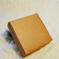 Wholesale 50pcs cm Kraft Paper Square Box Handmade soap packing boxes