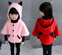 bat warmers - Girl s Clothing autumn and winter clothes new children s clothing bat shirt cape coat thick warm