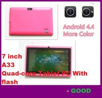 Wholesale tablets android pc inch A33 quad core Android Tablet pc capacitive Q88 dual camera MB GB Projection Tablet PC With flash