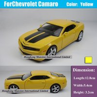 Car diecast - 1 Alloy Diecast Metal Car Model For TheChevrolet Camaro Bumblebee Collection Model Pull Back Car Toys Yellow