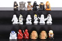 Wholesale New cm Star Wars stormtrooper Action Figures toys PVC Q version R2D2 robot mini Model Decoration toys styles Randomly send C253