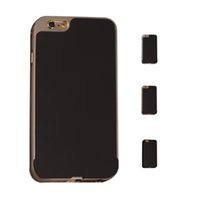Wholesale S5Q Shockproof Metal Bumper Mirror Back Case Covers Protectors For iPhone Plus AAAEYJ