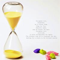 Wholesale 5 Min Sand Glass Sandglass Hourglass Timer Clock Birthday Gift Office decor