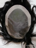 Wholesale Toupee for men human hair toupee mono lace toupee men s toupee size and b color tangle free no shedding
