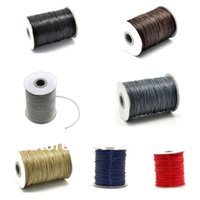 Wholesale roll M Different Colors Waxed Cotton Cord mm for Shamballa Bracelet Necklace Rope