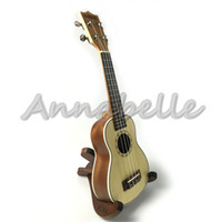 Wholesale Concert Soprano Ukulele quot quot Small Guitar Spruce Sapele Wood Uke four Strings Musical Instruments