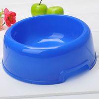 plastic dog bowl - Small Size Plastic Dog Feeding Bowl Pet Supplies LCCXJ409