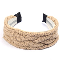 Wholesale FG New crochet headband women cute knitted hairband Winter Warmer Hair Band for Women Accessories FS00319