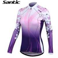best compression shirts - Best Mother s Day Gift SANTIC Women Sports Compression Long Seeve Fashion Purple T Shirt Fitness Running Cothes Quick Dy Thermal Base Layer