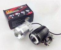 Wholesale Moto W Cree T6 U2 Motorcycle Led Driving Light Fog Lamp with lens Headlight Offroad Car ATV SUV Spotlight with Strobe
