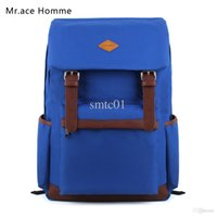 ace of bags - Mr ace homme preppy style solid color backpack middle school students school the trend of female bag travel bag