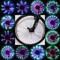 al por mayor ruedas de bicicleta de ruta de bricolaje-DIY caliente el cuadro de la rueda Rueda colorida impermeable habló la luz 36 LED Pista programable de la montaña Bici de la bicicleta Ciclo de neumático de doble cara
