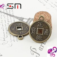 ancient chinese words - 18 mm Zakka diy alloy jewelry accessories new style China Ancient coins charm pendant vintage Chinese character word charms