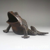 animal bronze sculpture - China Chinese Folk Fengshui bronze Copper Animal Frog Toad Statue sculpture