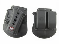 Cheap Fobus Evolution gun Holster RH Paddle GL-2 ND For Glock 17 19 22 23 27 31 32 34 35 6900RP Double Mag Pouch Glock