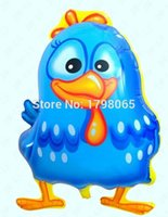 aluminum chicken - cm blue chicken helium foil balloons cartoon foil balloons galinha pintadinha aluminum air balls