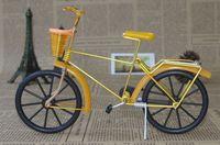 aluminum bike basket - Free shippinh with Aluminum handicraft black wheel bike model with Basket cjh C
