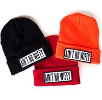 ain t no wifey beanie - AIN T NO WIFEY beanie skullies wool cap bboy knitted hats for women hip hop dance cap hot shot winter retail