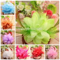 Wholesale bridal hair accessories feather flower with bead Corsage Fascinator fabric flowers flat back BJF