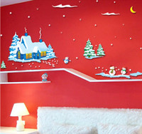 PVC fairy door - 2015 New Arrived Fashion Banksy Wall Stickers Home Decor Merry Christmas Fairy Door Wallpaper Kids House Decoration Adhesive Parede