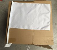 Wholesale white flag car window flags cm x cm table flags without logo