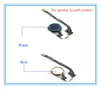 Wholesale 100 Original factory iphone s Home button with flex cable with siligel cal FOR IPHONE s Grade A