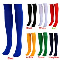 Wholesale New Arrivals Men Women Adults Sports Socks Football Plain Color Knee High Cotton One Size PX252